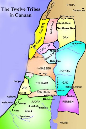Ephraim And Manessah History Of The Twelve Tribes Of Israel